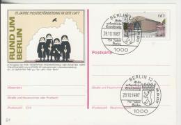Berlin Vom 28.10.1987   75 Jahre Postbeförderung In Der Luft  -  60 Pfennig  (81) - BRD