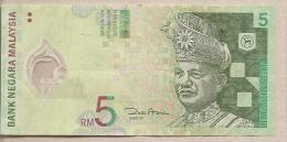 Malesia - Banconota Circolata Da 5 Ringgit - Polimero - Malesia