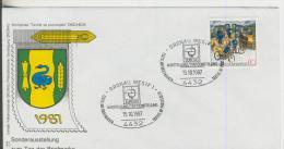 """Gronau Vom 15.10.1987  Sonderausstellung Zum Tag Der Briefmarke """"Euregio Ausstellung""""  80 Pfennig  (83) - BRD"""