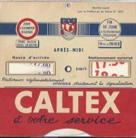 Disque Zone Bleue/ CALTEX/ Ville De Paris/vers 1960       AC1 - Cars