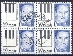 ##Denmark 2007. Victor Borge. Bloc Of 4. Michel 1478. Cancelled(o). - Danemark