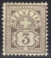 Suisse N° 64 ** - 1882-1906 Stemmi, Helvetia Verticalmente & UPU