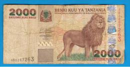 TANZANIA - 2000 Shillingi  Circulado    P-37 - Tanzanie