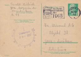 DDR, Postal Card 1957 W. Special Cancel - [6] República Democrática