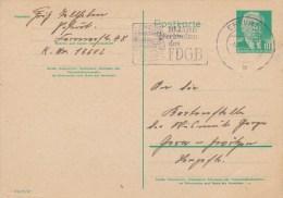 DDR, Postal Card 1958 W. Special Cancel - [6] República Democrática