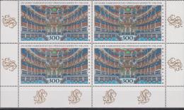 Deutschland, Germany, 1998, 250 Years Opera Of Bayreuth, Block Of 4, ***, MNH - Musica