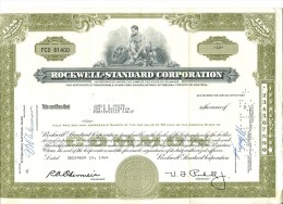 "Etats-Unis USA Action / Bond / Shares 1964 "" Rockwell Standard Corporation "" - Actions & Titres"