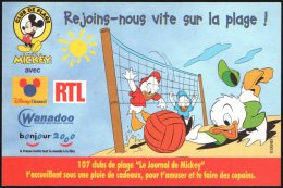 BEACH VOLLEY - FRANCE - REJOING.HOUS VITE SUR LA PLAGE! - DISNEY - MICKEY MOUSE - Volleyball