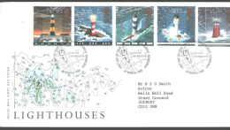 1998 United Kongdom  - England -   LIGHTHOUSES  - Rare FDC !!!!!!!!!!!!! - Vuurtorens