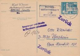DDR; Postal Card 1980 - Returned - [6] República Democrática