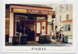 """PARIS 1°--Bistrot Parisien""""Le Rubis"""",Rue Du Marché St Honoré (animée,belle Pub Bière """"Météor"""",cpm éd Yvon - Paris (01)"""