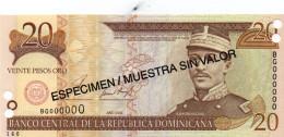 20 PESOS DOMINICAN 2001 UNC - Dominicana