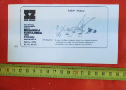 Horse-drawn Digger (RMK Bosanska Kostajnica, Bosnia) / Cheval Tirant Une Charrue /advertising Clipping - Tracteurs