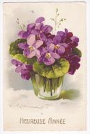 Carte Illustrée Par C Klein - Heureuse Année (bouquet De Violettes) Circulé 1935 - Klein, Catharina