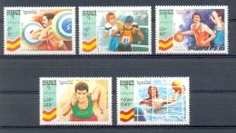 Mua109 SPORT OLYMPISCHE SPELEN OLYMPIC GAMES BARCELONA GEWICHTHEFFEN BOXEN WATERPOLO BASKETBALL CAMBODGE 1992 PF/MNH* - Sommer 1992: Barcelone