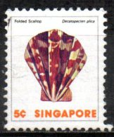 SINGAPORE 1977 Shells -  5c.   - Folded Or Plicate Scallop FU - Singapour (1959-...)