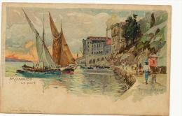 Monaco Illustration Manuel Wielandt J. Velter Edit Karlruhe No 464 Barques A Voile - Harbor