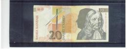 SLOWENIEN  ,  SLOVENIA  ,  20 Tolarjev  ,  15.1.1992  ,     Pick#11 - Slovenia