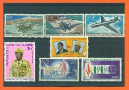 Republique Centrafricaine - 7 Timbres Neufs Aeriens  - 28 Euros De Cote - Repubblica Centroafricana