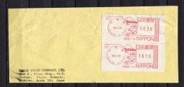 Japan, Nippon, 1990,  EMA, Freistempel,Fragment - Brieven En Documenten