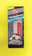FOOTBALL - 2 Air Freshenners Neufs Dans Leur Pochette - 3 Scans - - Autres