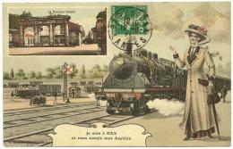 DAX Rare Fantaisie Amitiés Train (Bernède) Landes (40) - Dax