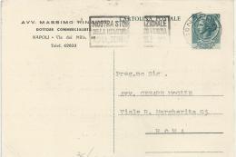 ITALIA REPUBBLICA 1953 INTERO SIRACUSANA 20 Lire C153 - Testo Corto E Linea Punteggiata - Interi Postali