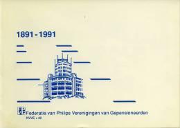 Erinnofilie: Carnet + FDC Herdenkingszegels 1891-1991 Philips 100 Jaar - Erinnofilie