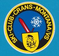Autocollant - Ski Club Crans Montana Valais - Adesivo - Aufkleber - Sticker - Autocollants