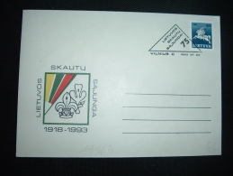 LETTRE TP CHEVALIER 500  OBL. LIETUVA VILNIUS-C 1993 07 03 - Lithuania