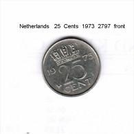 NETHERLANDS    25  CENTS  1973  (KM # 183) - [ 3] 1815-… : Kingdom Of The Netherlands