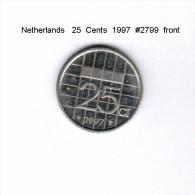 NETHERLANDS    25  CENTS  1997  (KM # 204) - [ 3] 1815-… : Kingdom Of The Netherlands