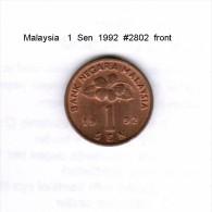 MALAYSIA    1  SEN  1992  (KM # 49) - Malaysia