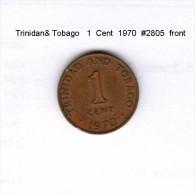 TRINIDAD & TOBAGO    1  CENT  1970  (KM # 1) - Trinidad & Tobago