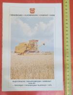 IPK Industrial Agricultural Combine OSIJEK  (Croatia) COMBINE, Combiner Dans Le Blé, Kombinieren - Tractors