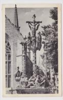 CLEDEN POHER - N° 1076 - LE BEAU CALVAIRE A PERSONNAGES - Ed. D' ART JOS - LEGER PLIS EN HAUT A DROITE - FORMAT CPA - Cléden-Cap-Sizun