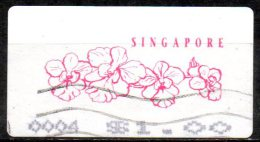SINGAPORE Unknown Date - Franked Piece Showing Flowers FU - Singapour (1959-...)