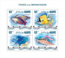 MALDIVES 2013 FISH FISHES OF INDIAN OCEAN S/S MNH NEW - Sin Clasificación