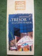 Dépliant Publicitaire 2002 -  EDEN CASINO JUAN LES PINS (3 Scans) - French