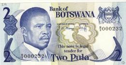 BILLET # BOTSWANA # 2 PULA   # 1982 # PICK N° 7 # PRESIDENT O. MASIRE - Botswana