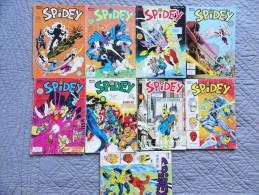 SPIDEY - Lot De 9  Numéros - Marvel / Collection LUG - Spidey