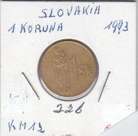 1 KORUNA 1993 - Slovaquie