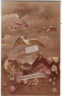 FANTAISIES. ILLUSTRATEURS. BEBES . CIGOGNES D'ALSACE. PORTE BONHEUR. DIX 796.5 - Bebes