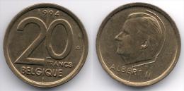 Belgium : Albert II : 20 Francs 1994 French Legend - 1993-...: Albert II