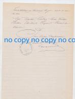 Très Rare Document 25 Janvier 1874 Délibération Mairie BEAULIEU LES FONTAINES Création Bureau Télégraphe à Ercheu - Historical Documents