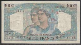 """FRANCE 1000F """"Minerve Et Hercule"""" N° 41 Daté Du 16/5/1946 - 1 000 F 1945-1950 ''Minerve Et Hercule''"""