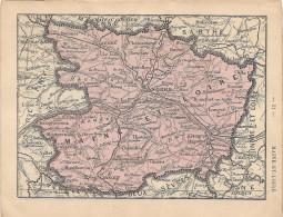 """Cartes Départements : Maine-et-Loire & Manche - Extraites Du """"Petit Atlas Départemental De La France"""" - Hachette, 18 - Cartes Géographiques"""