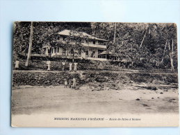 Carte Postale Ancienne : SAMOA : Ecole De Filles à Samoa - Samoa