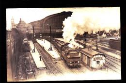 LOCOMOTIVE  ALLEMANDE GARE BR 9301472 ET  WUTENBOURGEOISE CARTE PHOTO ORIGINALE - Eisenbahnen