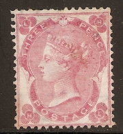 Grande-Bretagne (GB) Victoria 1862 - 3d Rose Foncé Neuf (unused) - Sc#37a Cote 2900$ - Neufs